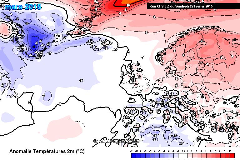 Abweichung der Monatsmitteltemperatur gegenüber dem Klimamittel 1981-2010 am Boden