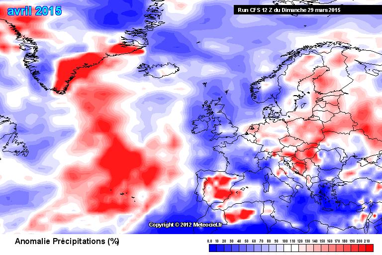 Abweichung der Niederschlagssumme gegenüber dem Klimamittel 1981-2010 (rot = nasser, blau = trockener als im Schnitt)