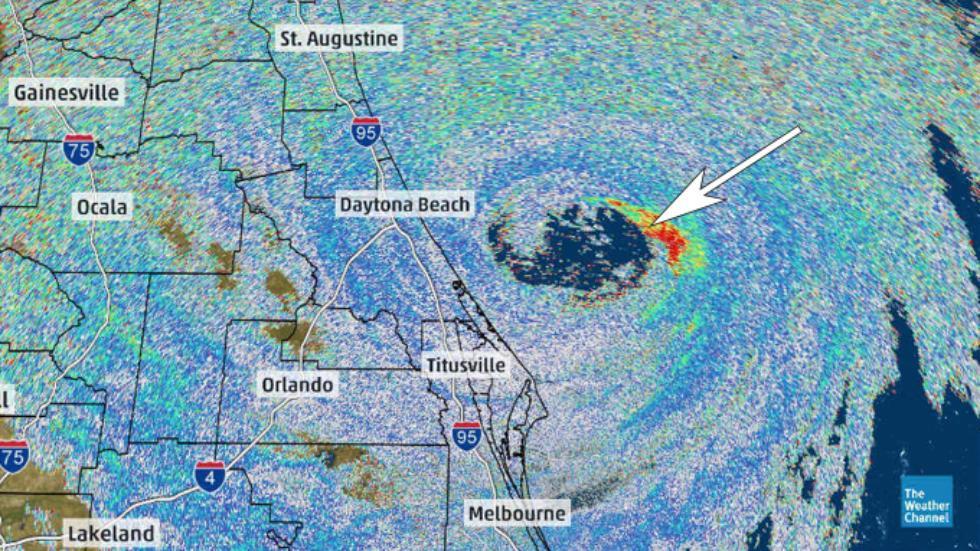 Das Radar-Rohbild ermöglicht die Erfassung nicht-meteorologischer Signale (Quelle: weather.com)